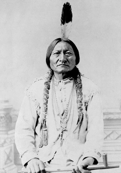 Chief Sitting Bull in 1885 (Hunkpapa Lakota).